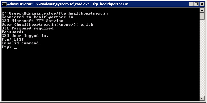Server Cannot Accept Argument In FTP Command
