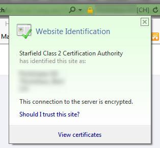 SSL Certificate error in Internet Explorer but not Firefox