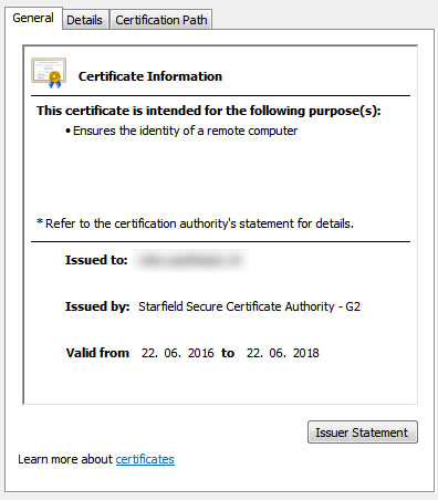 SSL Certificate error in Internet Explorer but not Firefox, Chrome ...