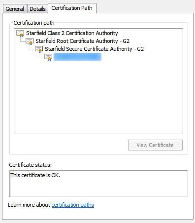 SSL Certificate error in Internet Explorer but not Firefox, Chrome