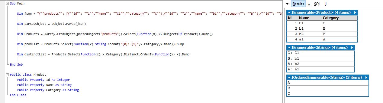 Customizing a json response using VB NET