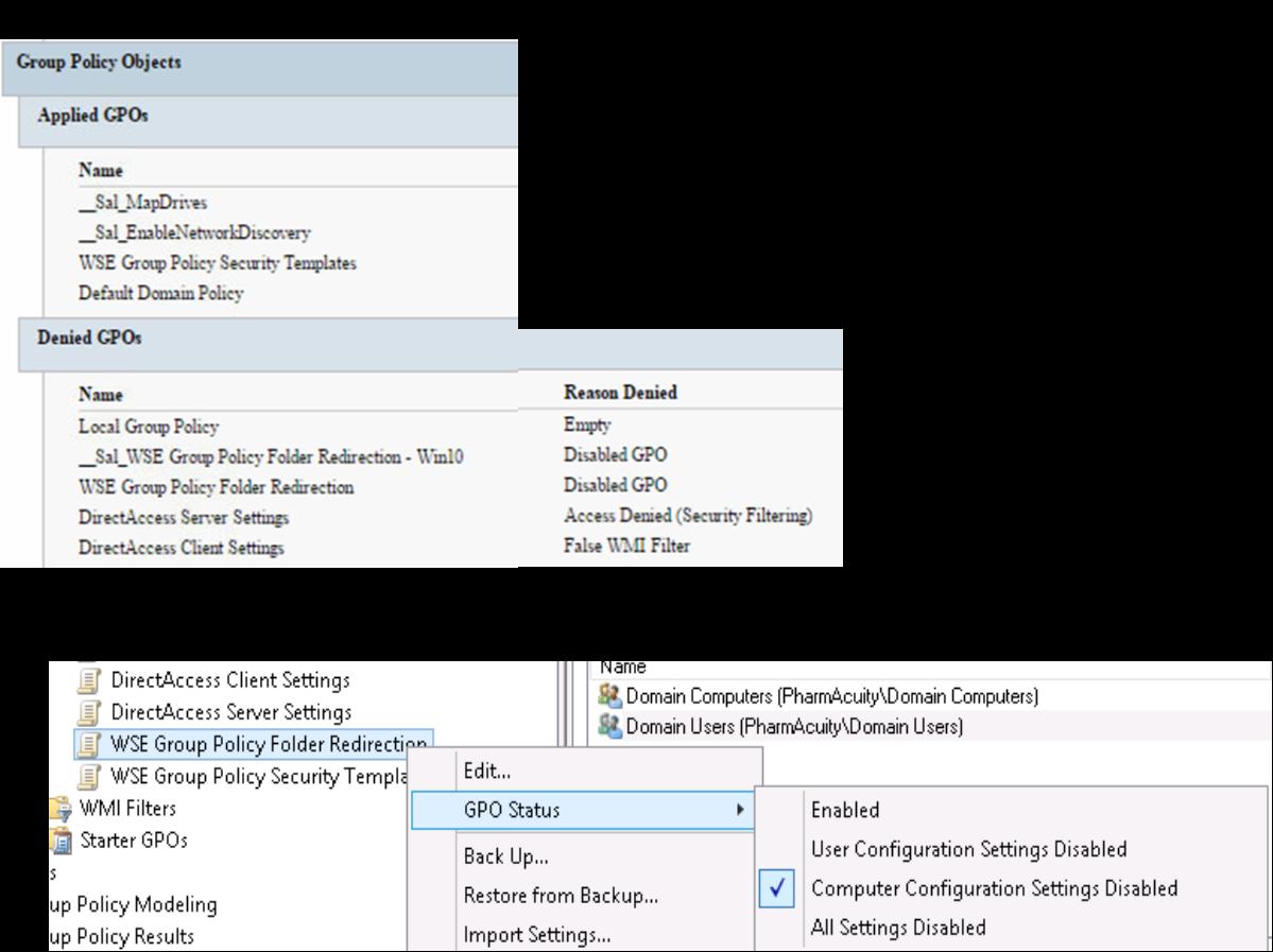 Server 2012 R2 with Essentials - Folder Redirection not