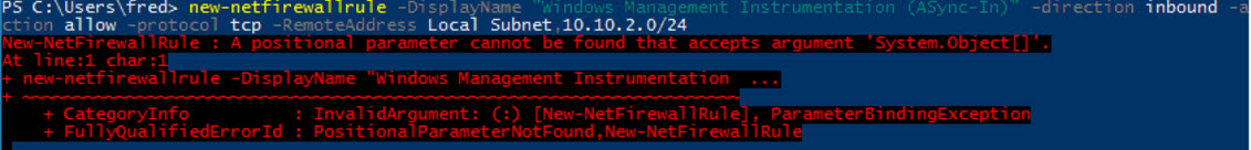 Using PowerShell for Windows Firewall #2