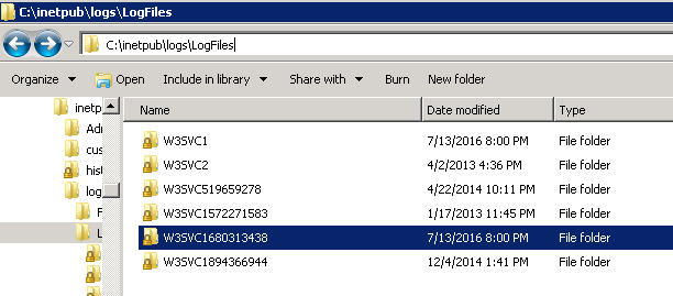 Inetpub folder in C drive