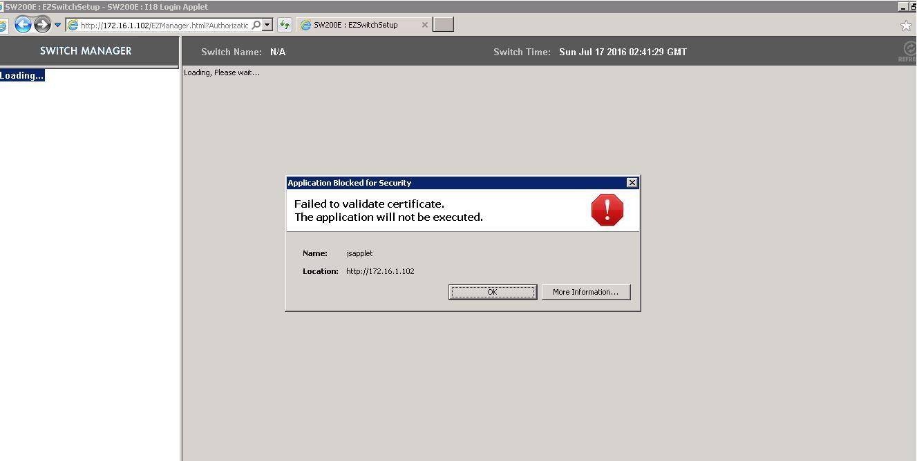 Java Is Blocking My Old Appliance Aplication