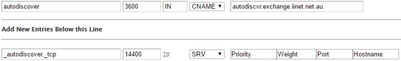 cPanel SRV vs CNAME autodiscover