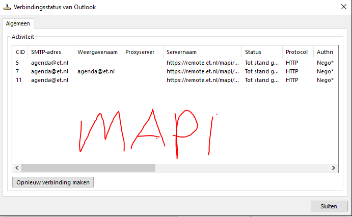 MAPI Connection