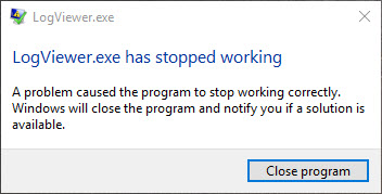 Logviewer stopped wotking