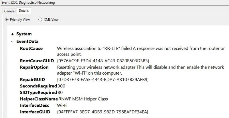 Wifi Adapter Connection Error - Event Log 03