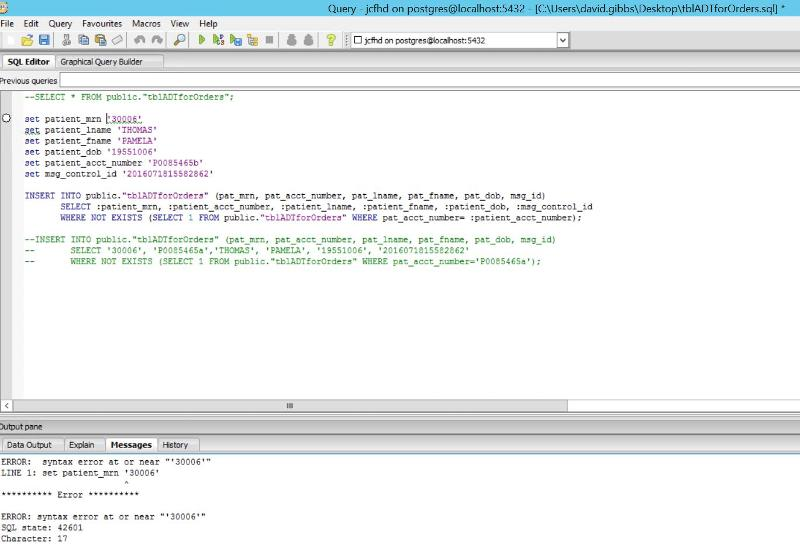 Syntax Error Screen Shot