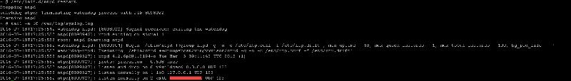 /etc/init.d/ntpd restart