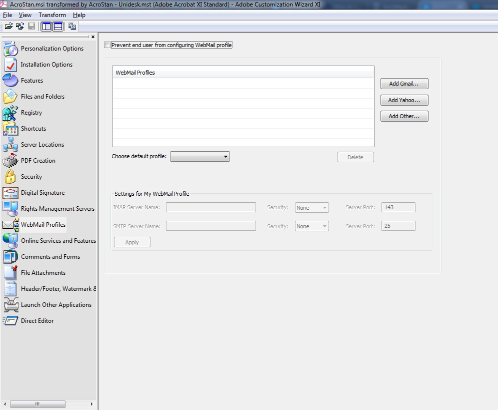 Secondary CW email tab screenshot