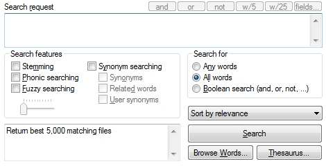 dtSearch search request