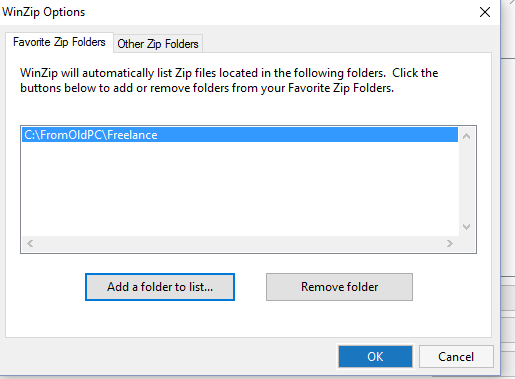 Add folder to favorites