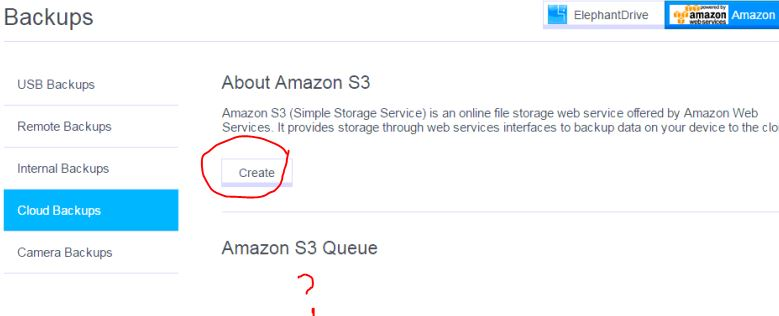 After I click finish, I see nothing in the Amazon S3 Queue