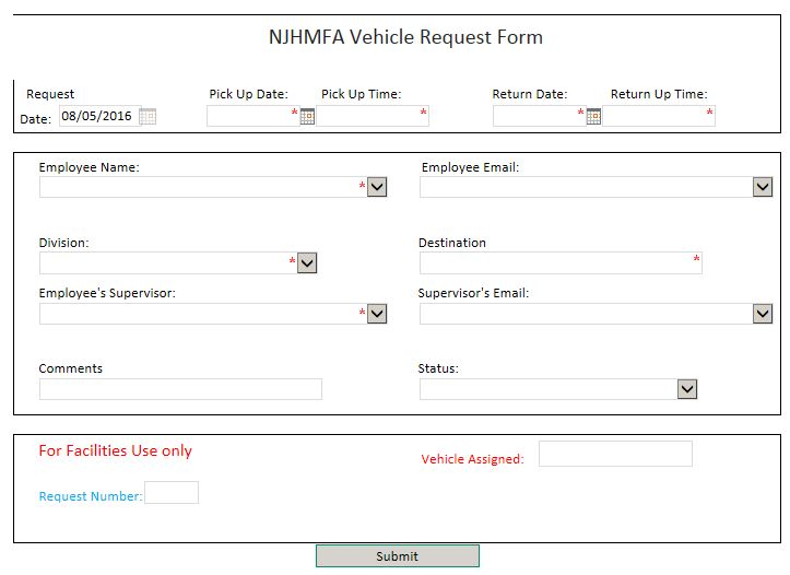 car request form
