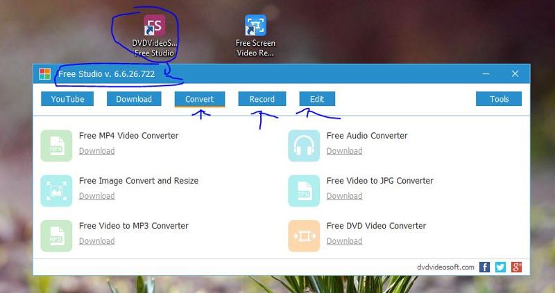 ‌Includes free DVDVideoSoft Studio