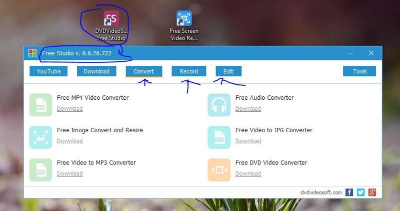 Includes free DVDVideoSoft Studio