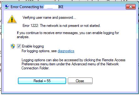 Windows VPN Server, IKE VPN Error