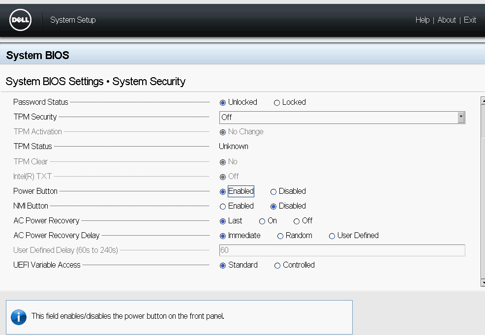 Disable Chassis Intrusion Alarm on Dell Poweredge R620
