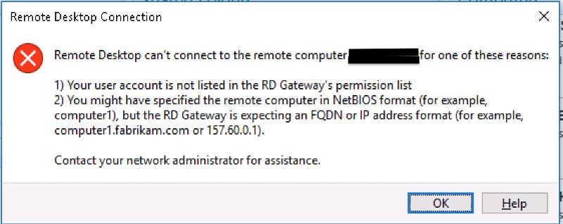 gateway error