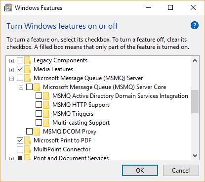 MSMQ no enabled