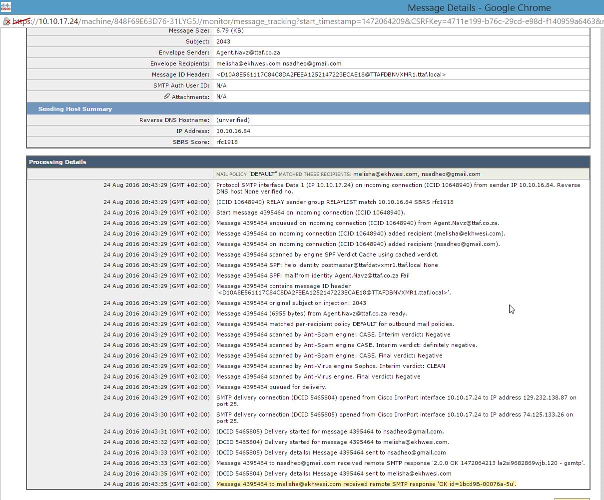 SPF record  Cisco Ironport  Office 365 Hybrid