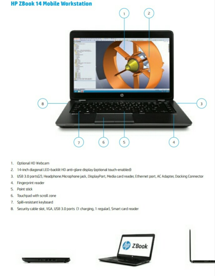 HP ZBook 14 spec