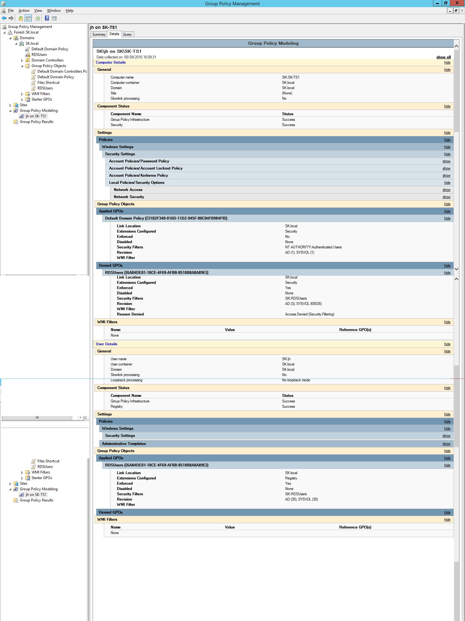 RDS Temporary Profiles