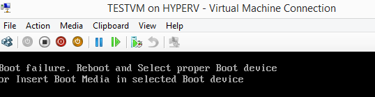 VM Boot Failure