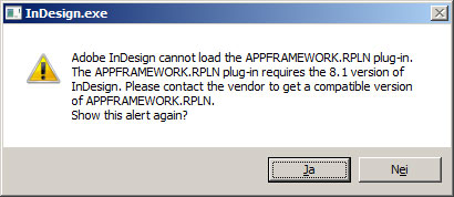 Error message - starting InDesign CS6