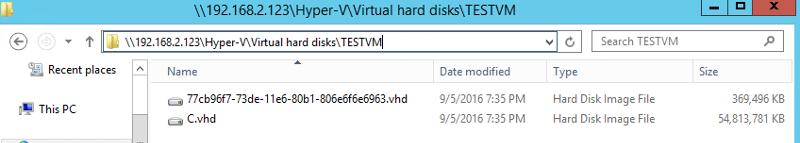 VHD in Hyper-V