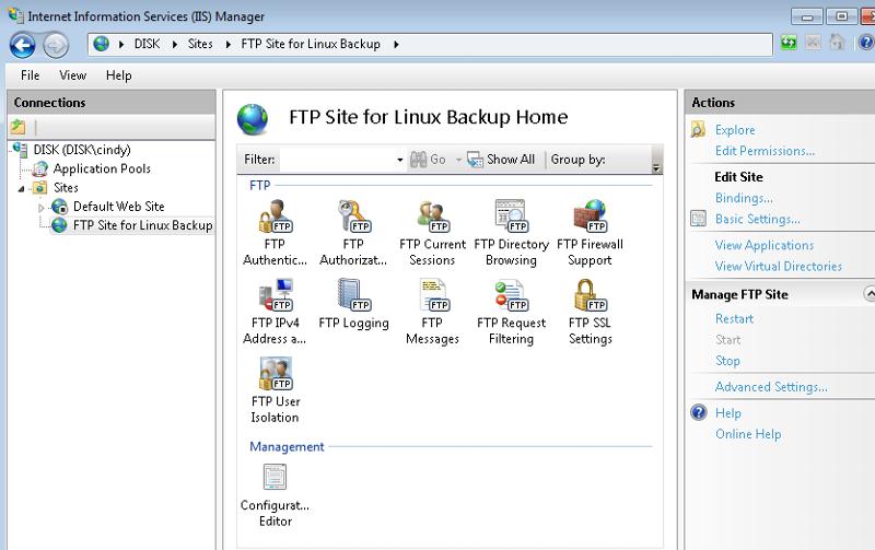 IIS - FTP Site Properties