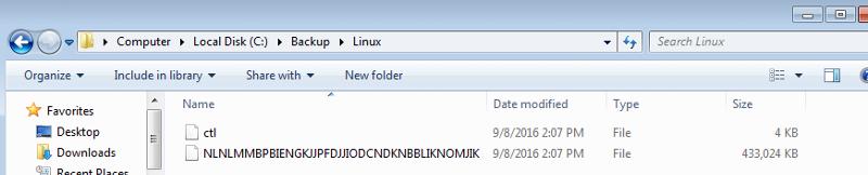 Backup in Linux Folder
