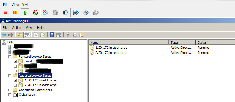 How to create a reverse look up zone in Windows DNS