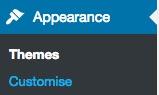 Wordpress themes customize