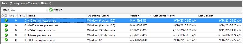 Windows 10 version after kb3189866