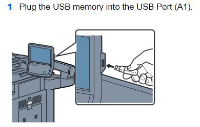 Plug in USB on side of display.