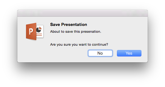 PowerPoint:mac Save repurposed
