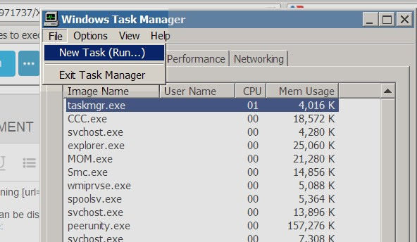 XP task manager