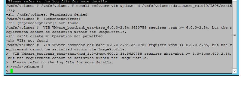 error output