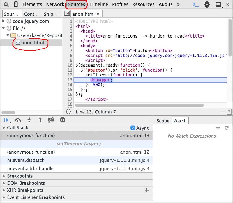 debugg screenshot on chrome
