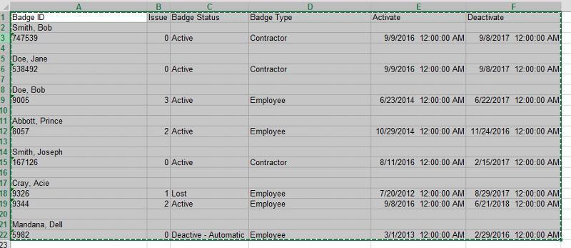 Excel 1 non formattte