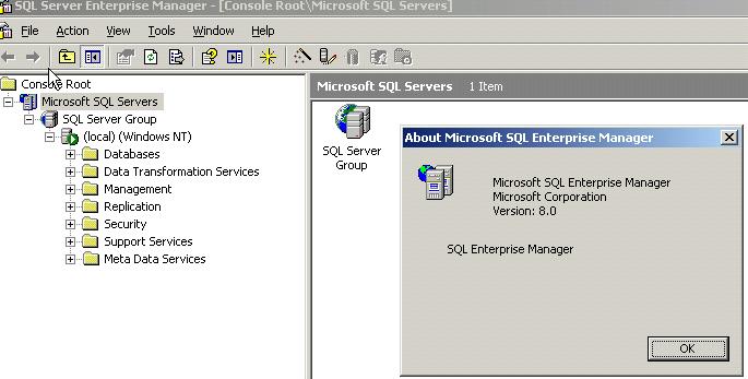 SQL Server Ent Mgr