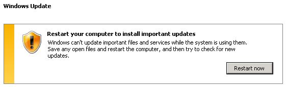 Windows Update Prompt