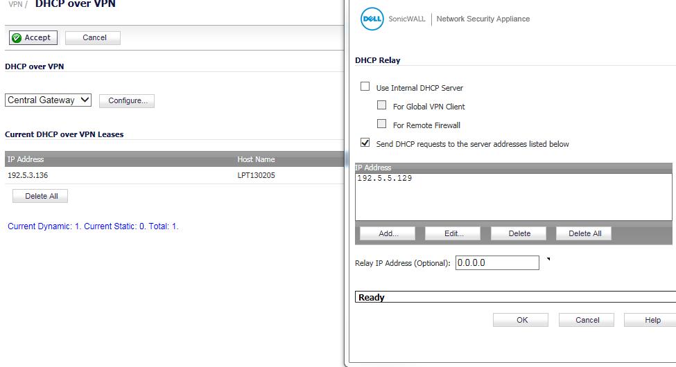 Sonicwall Global VPN Client speeds