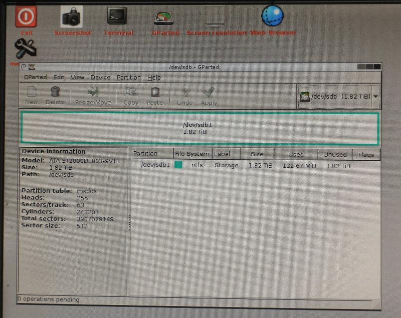 DEVB, normal NTSF file system