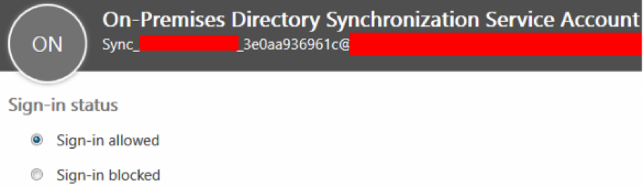 Do Not Disable the Directory Sync Service Account in Office 365