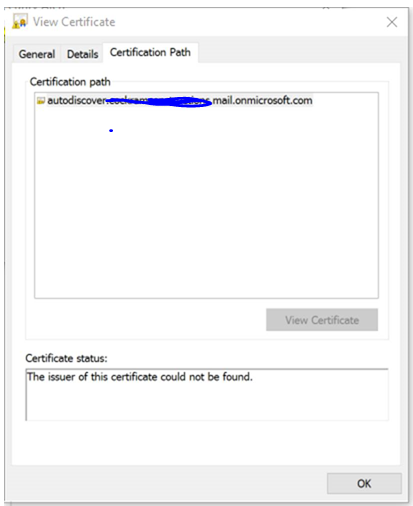 No Certificate Chain