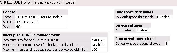 Low Disk Alert